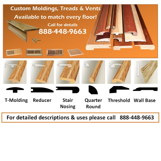 Laminate AC3 Grade - Click System Laminate - Underlayment and Moldings  Available
